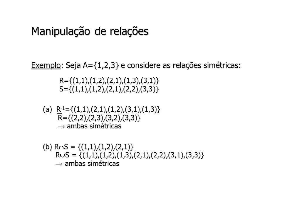Manipulação de relações
