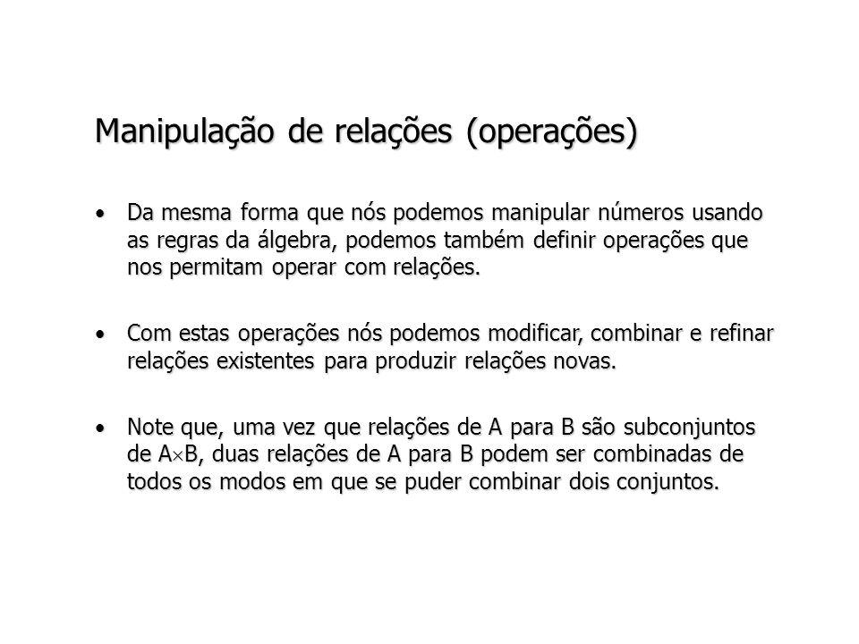 Manipulação de relações (operações)