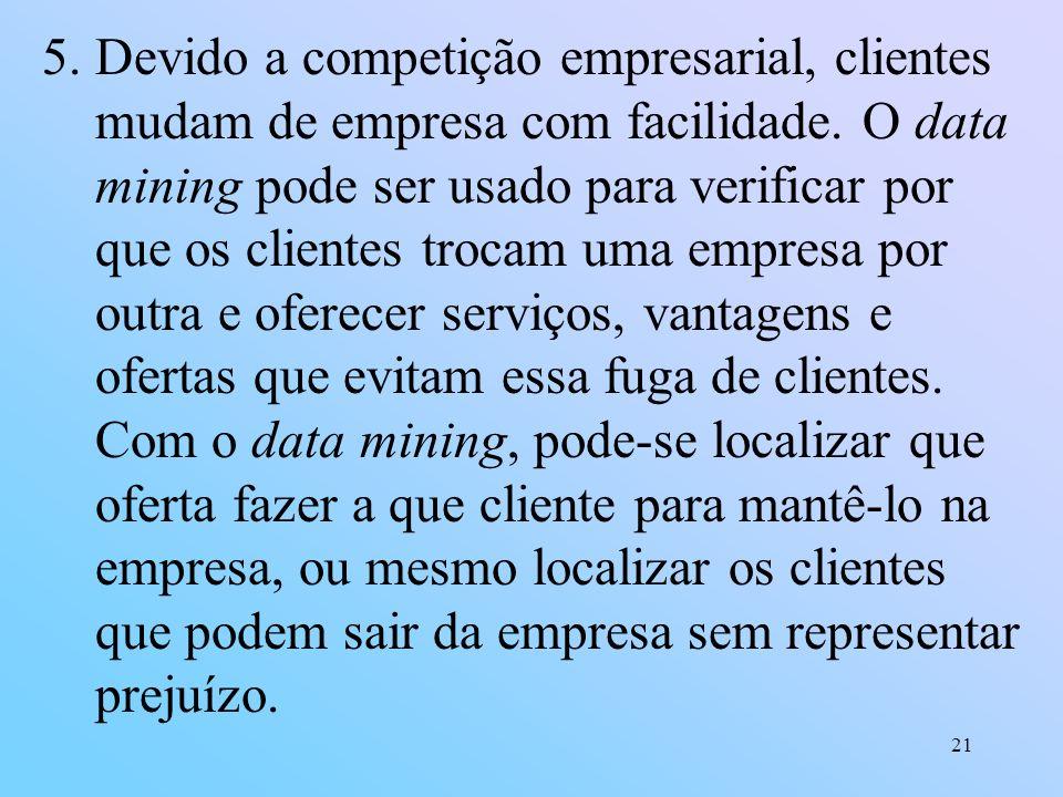 Devido a competição empresarial, clientes mudam de empresa com facilidade.