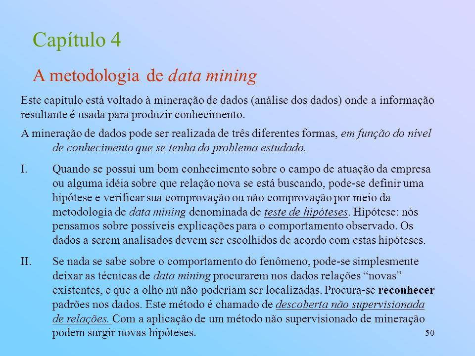 Capítulo 4 A metodologia de data mining