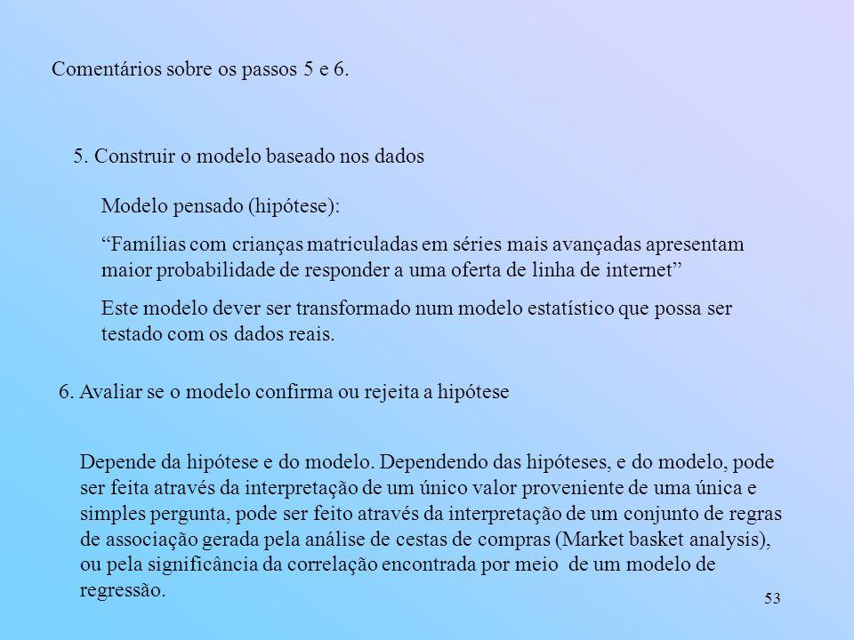 Comentários sobre os passos 5 e 6.