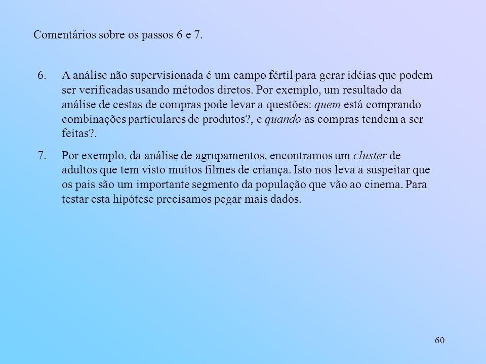Comentários sobre os passos 6 e 7.