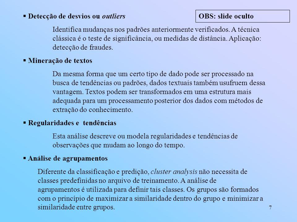 Detecção de desvios ou outliers