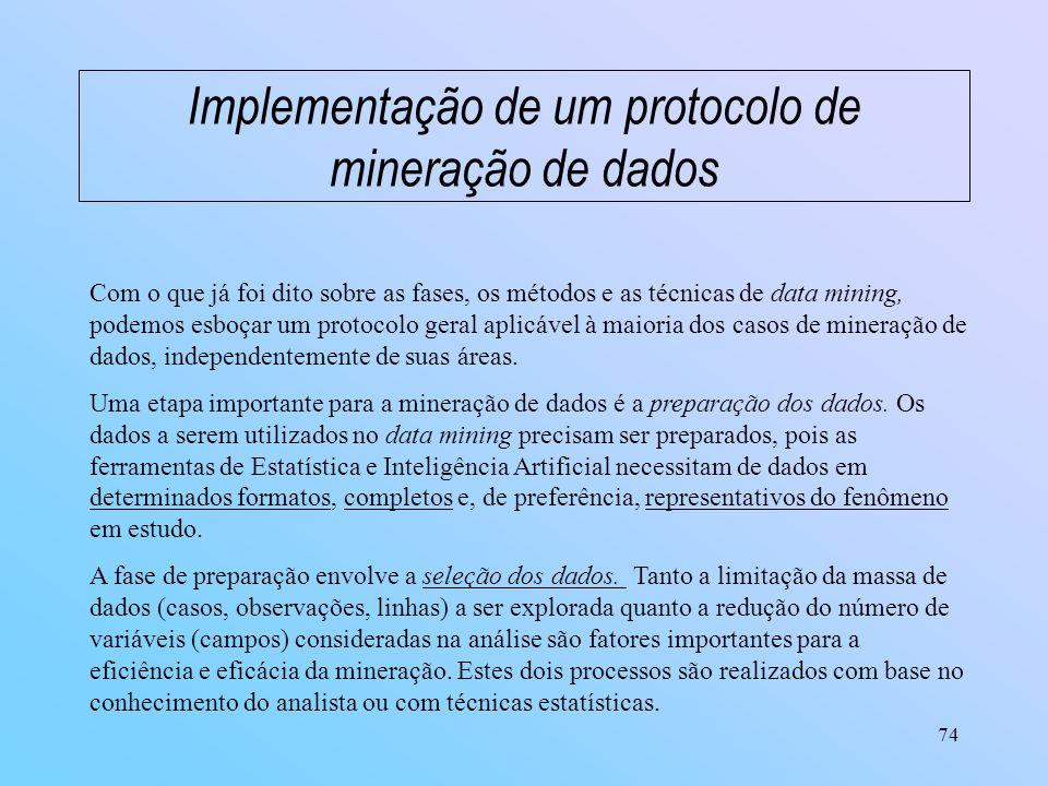 Implementação de um protocolo de mineração de dados