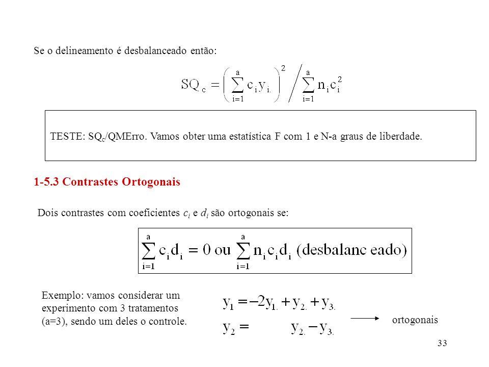 1-5.3 Contrastes Ortogonais