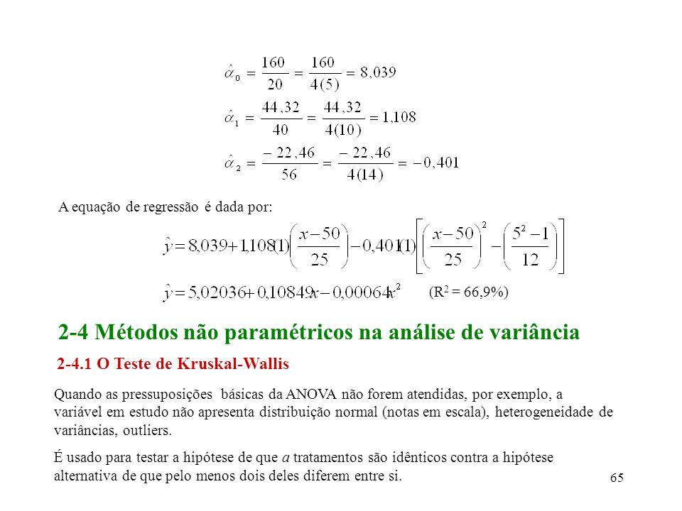 2-4 Métodos não paramétricos na análise de variância