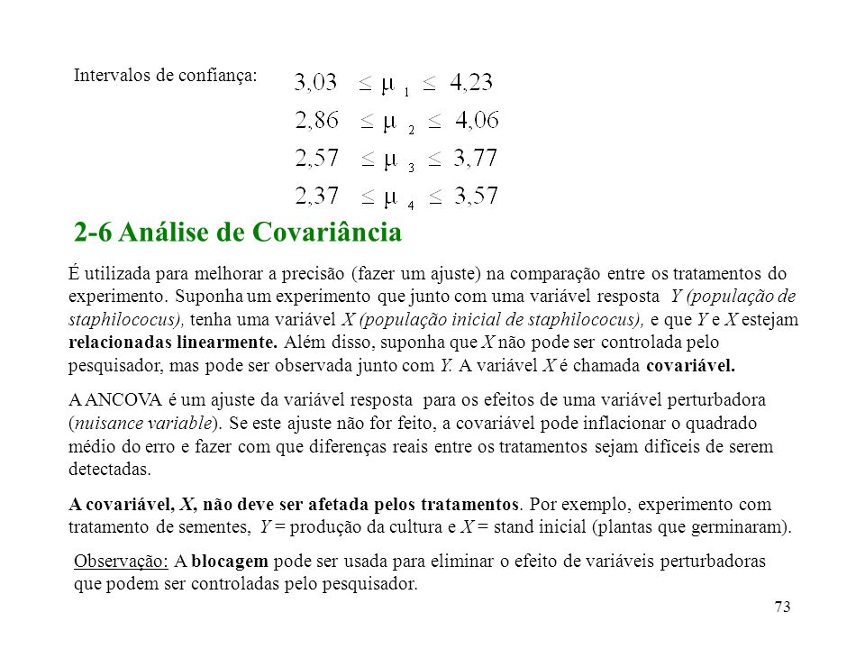 2-6 Análise de Covariância