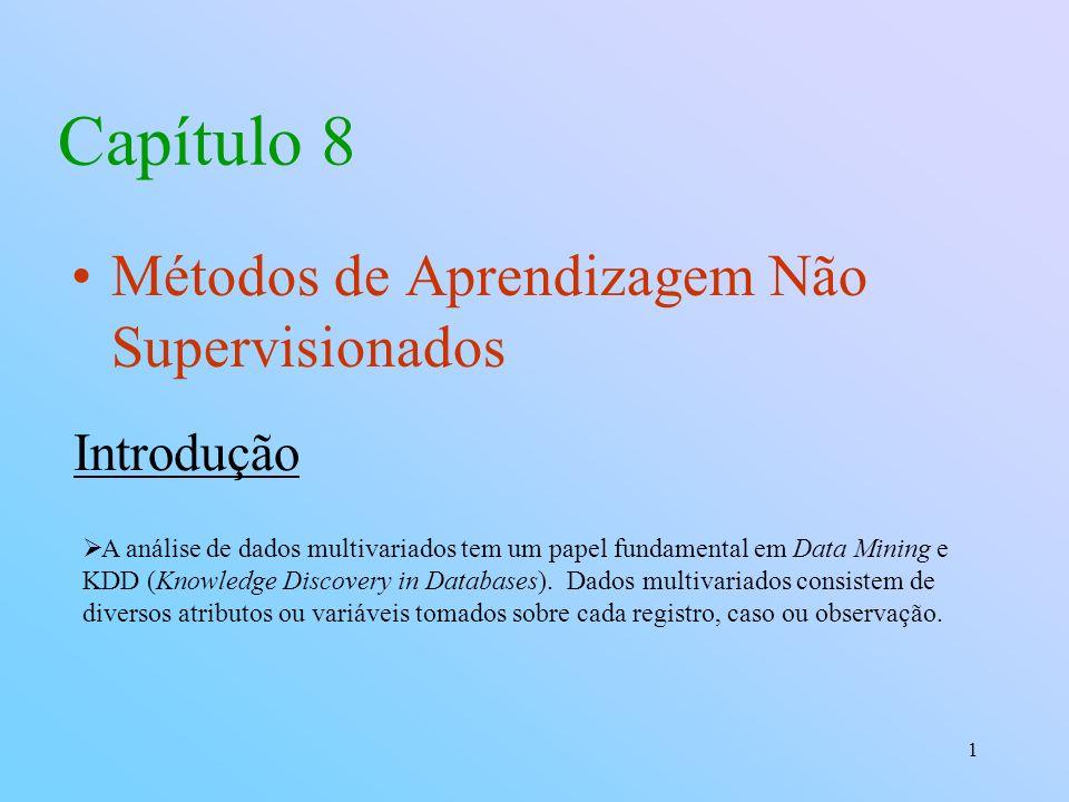 Capítulo 8 Métodos de Aprendizagem Não Supervisionados Introdução
