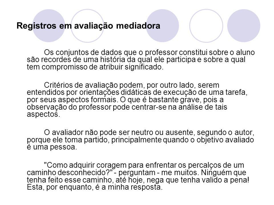 Registros em avaliação mediadora