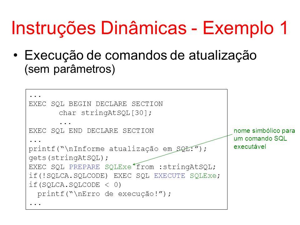 Instruções Dinâmicas - Exemplo 1