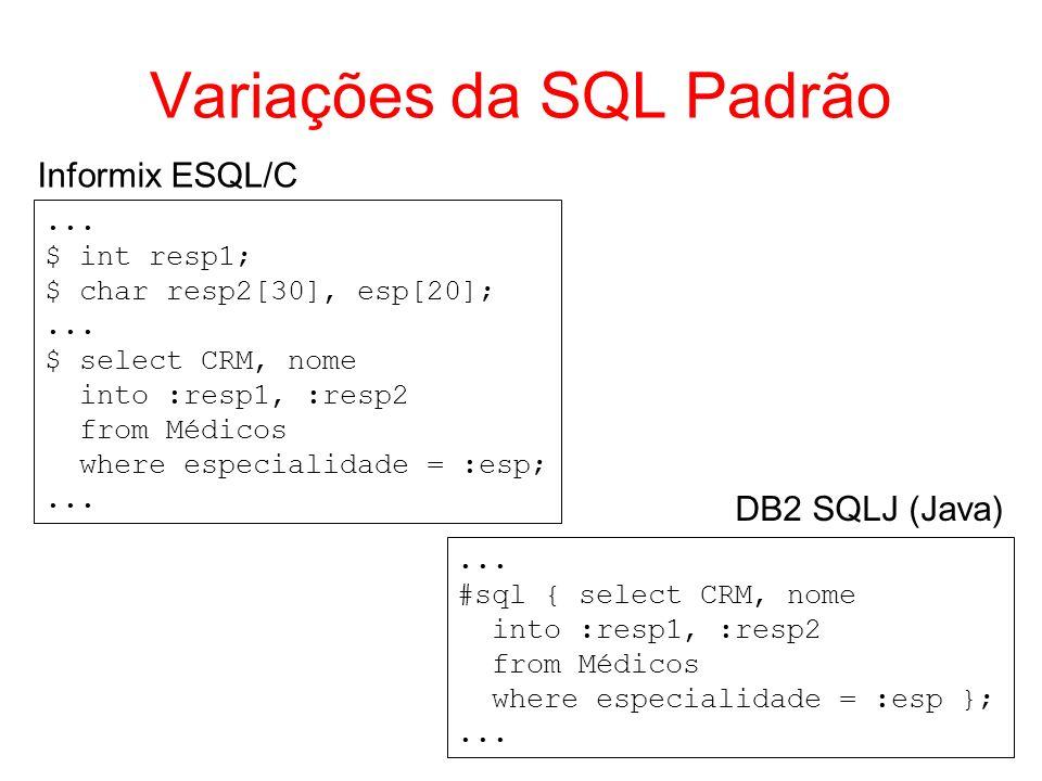 Variações da SQL Padrão
