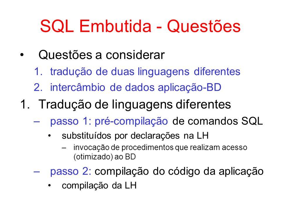 SQL Embutida - Questões