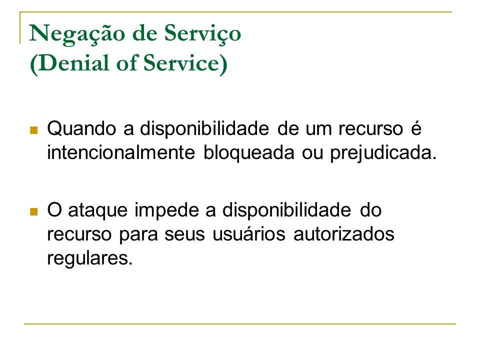 Negação de Serviço (Denial of Service)