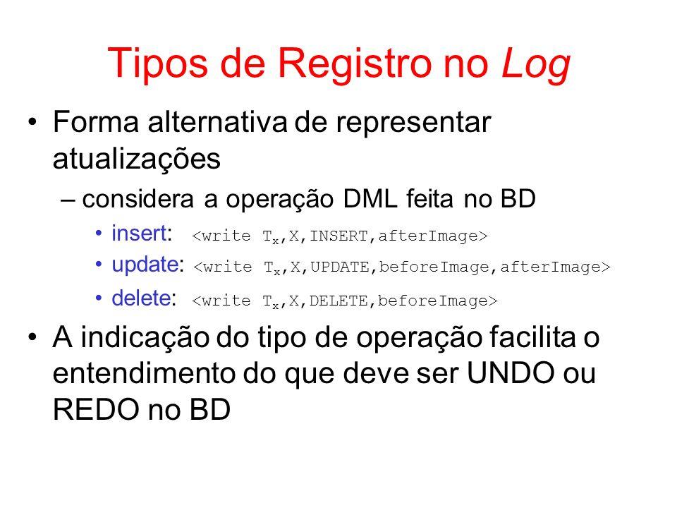 Tipos de Registro no Log