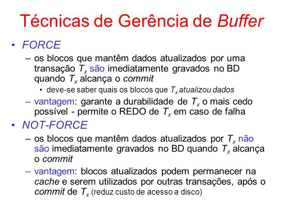 Técnicas de Gerência de Buffer