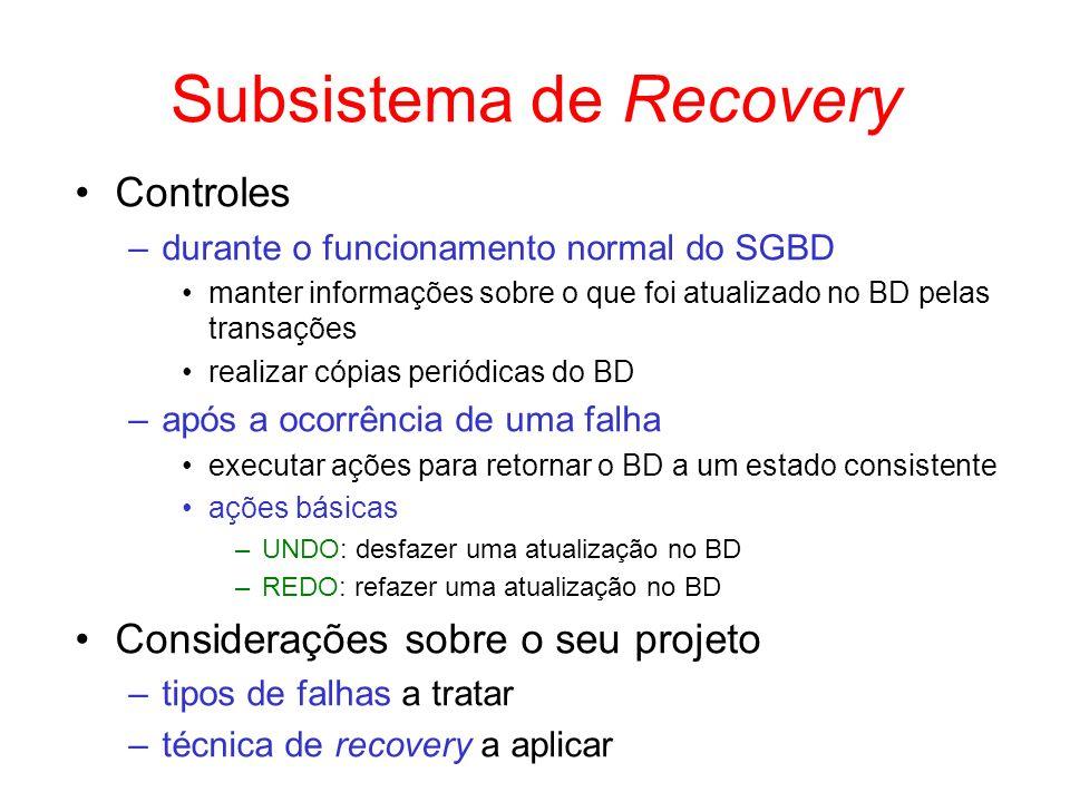Subsistema de Recovery