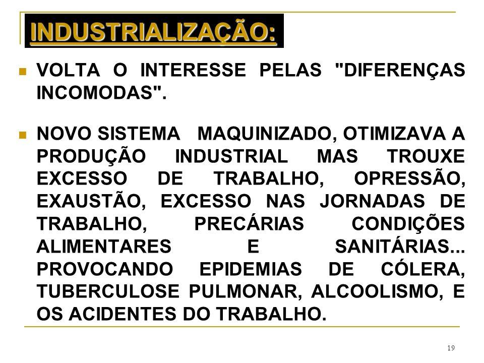INDUSTRIALIZAÇÃO: VOLTA O INTERESSE PELAS DIFERENÇAS INCOMODAS .