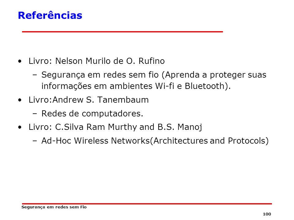 Referências Livro: Nelson Murilo de O. Rufino