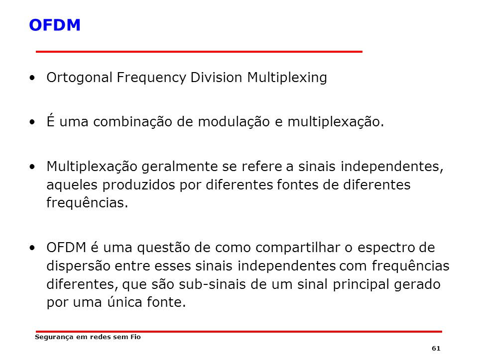 OFDM Ortogonal Frequency Division Multiplexing