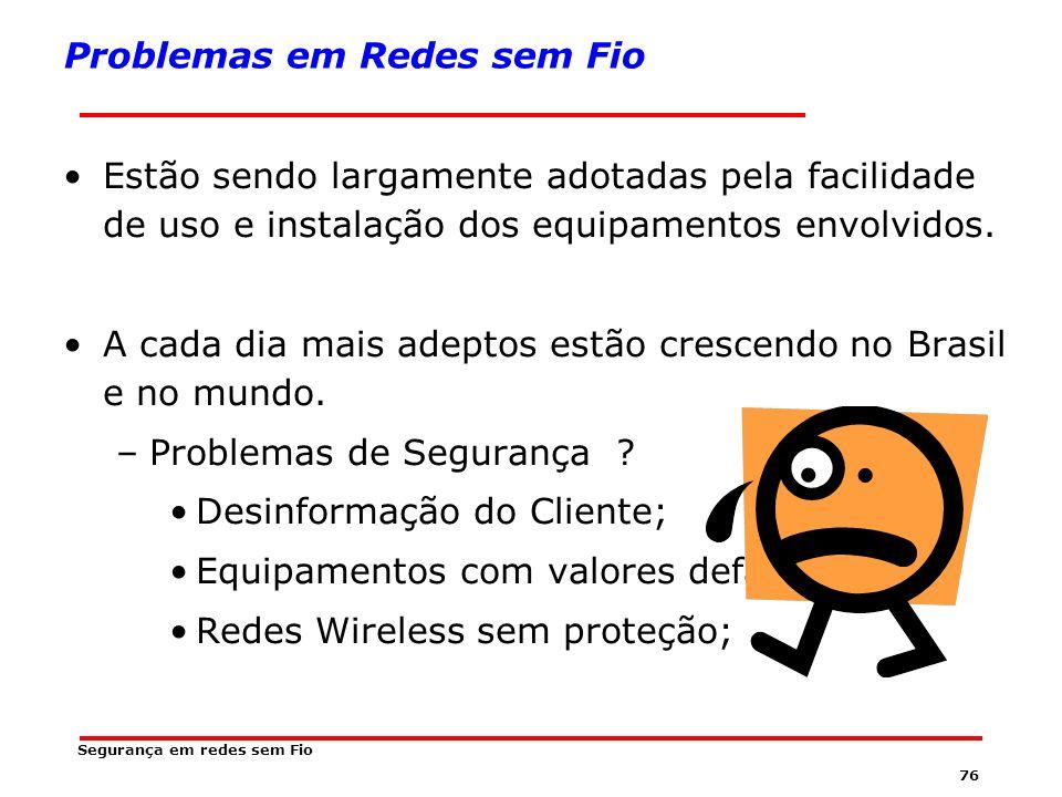 Problemas em Redes sem Fio