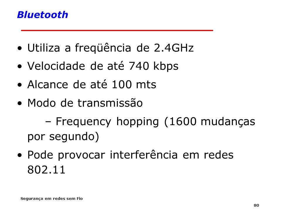 Utiliza a freqüência de 2.4GHz Velocidade de até 740 kbps