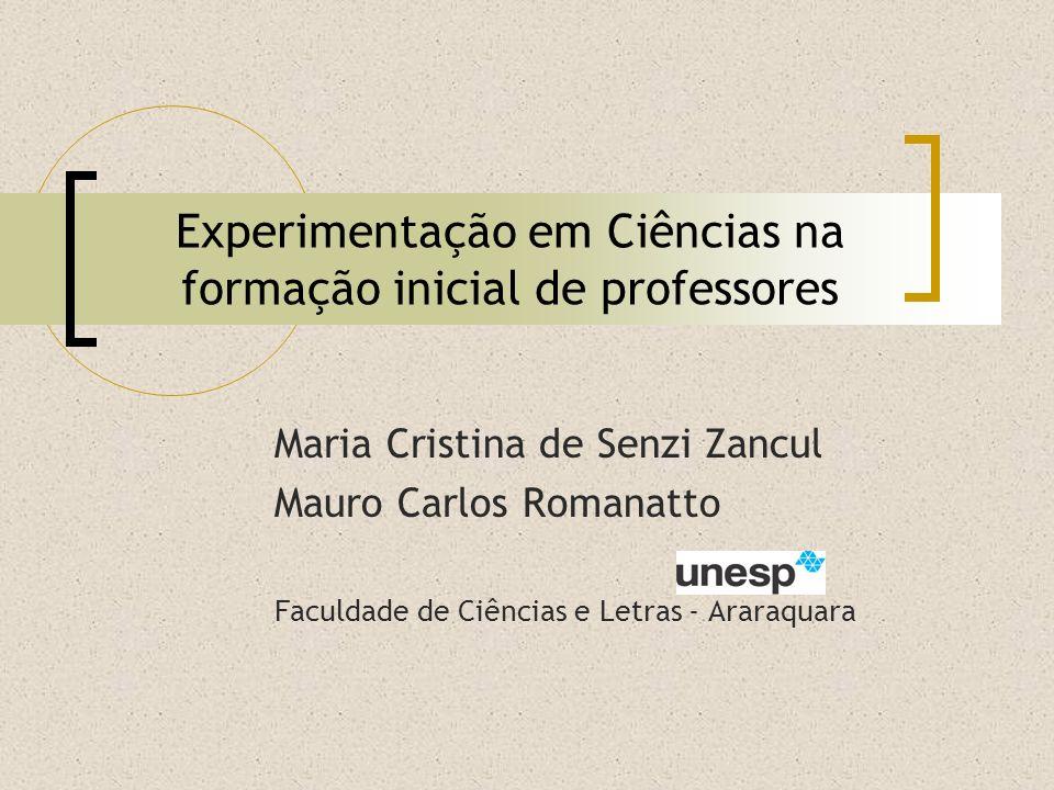 Experimentação em Ciências na formação inicial de professores