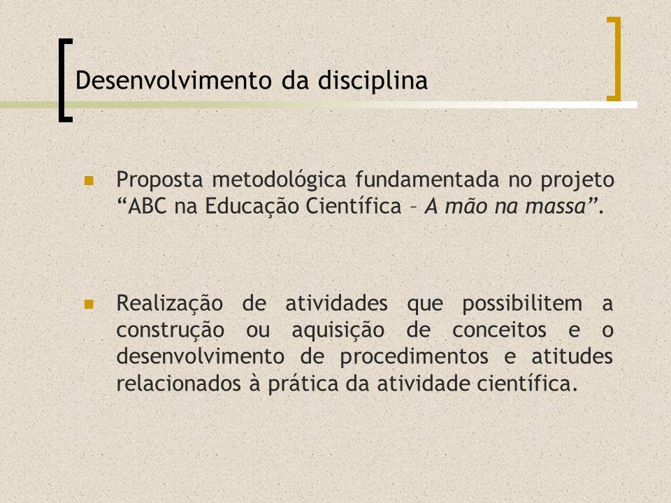 Desenvolvimento da disciplina