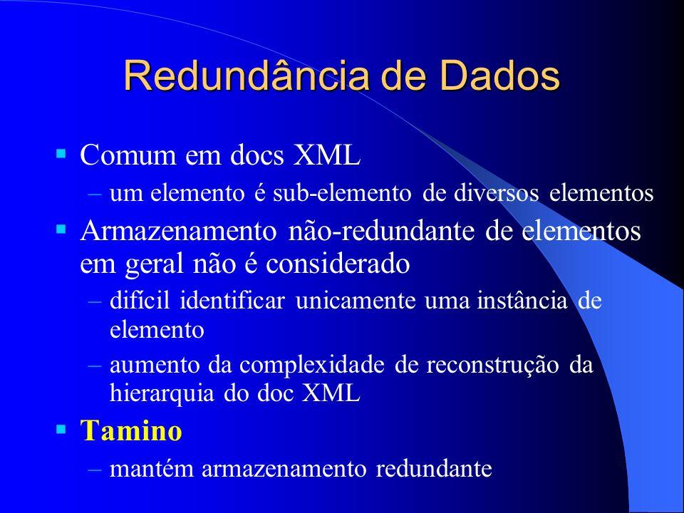 Redundância de Dados Comum em docs XML