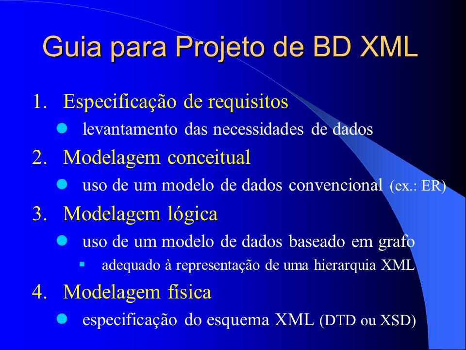 Guia para Projeto de BD XML