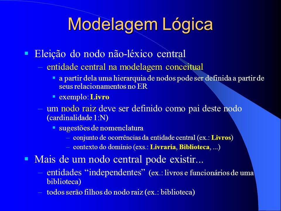 Modelagem Lógica Eleição do nodo não-léxico central