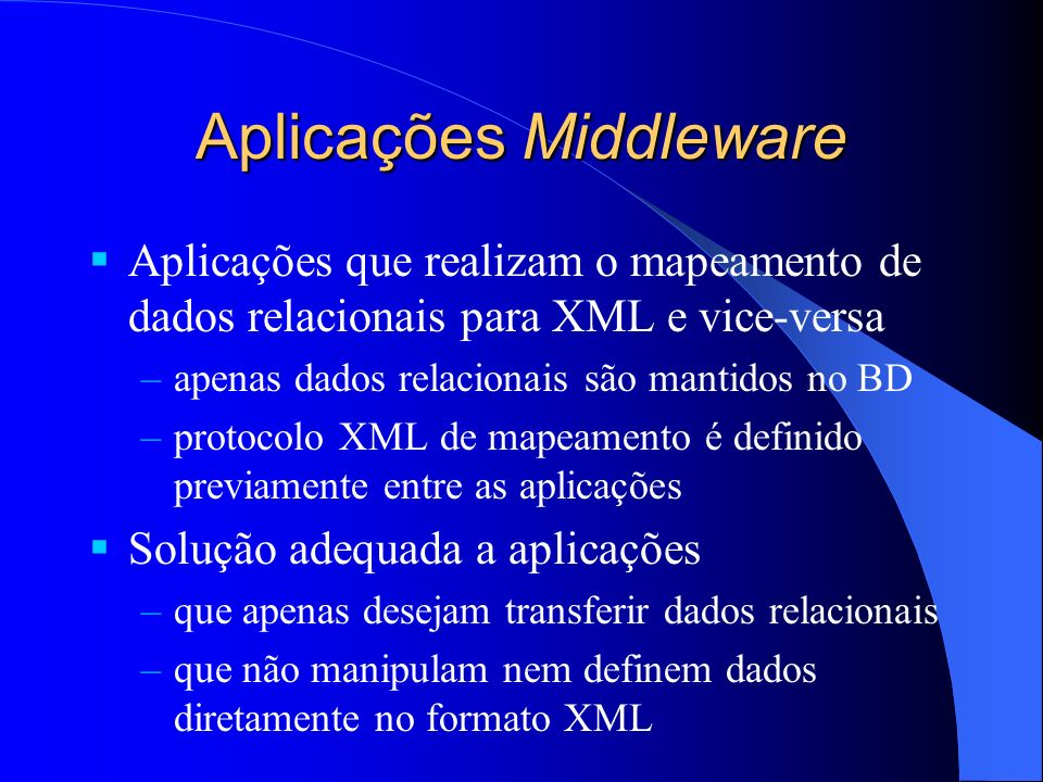 Aplicações Middleware