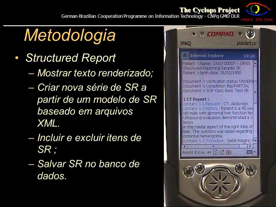 Metodologia Structured Report Mostrar texto renderizado;
