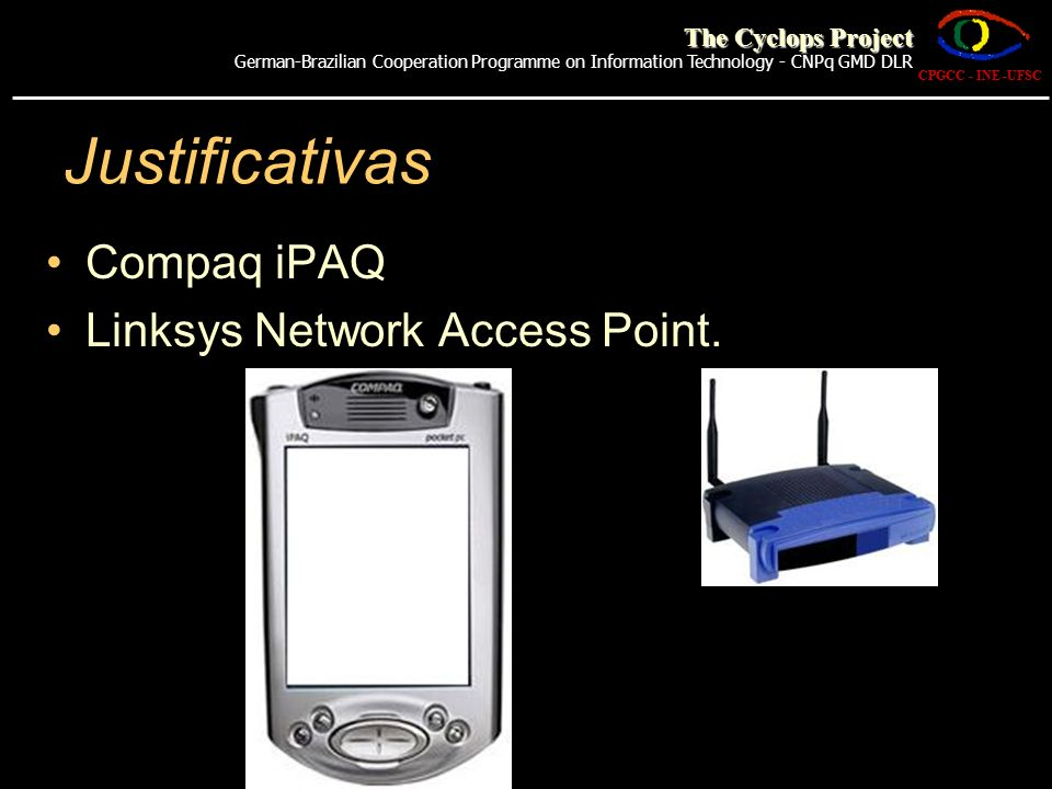 Justificativas Compaq iPAQ Linksys Network Access Point.