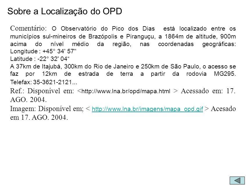 Sobre a Localização do OPD
