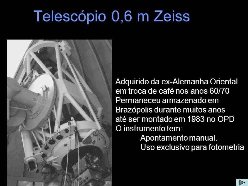 Telescópio 0,6 m Zeiss Adquirido da ex-Alemanha Oriental