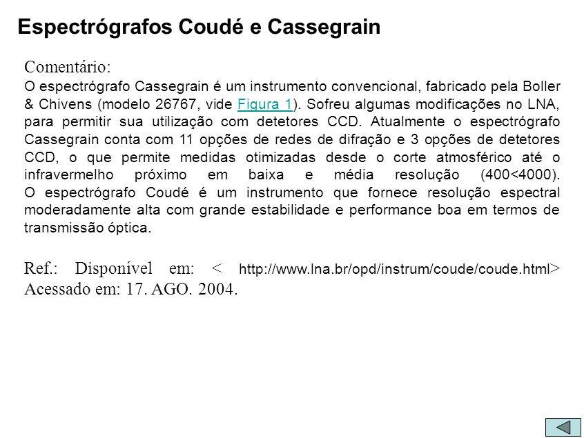 Espectrógrafos Coudé e Cassegrain