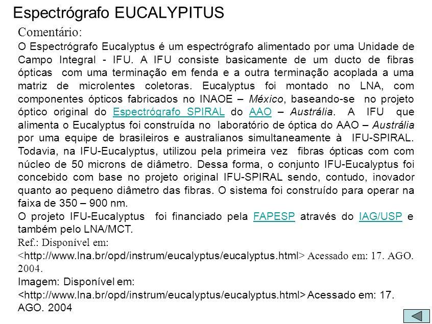 Espectrógrafo EUCALYPITUS