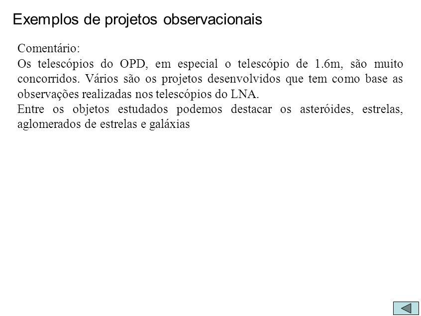 Exemplos de projetos observacionais