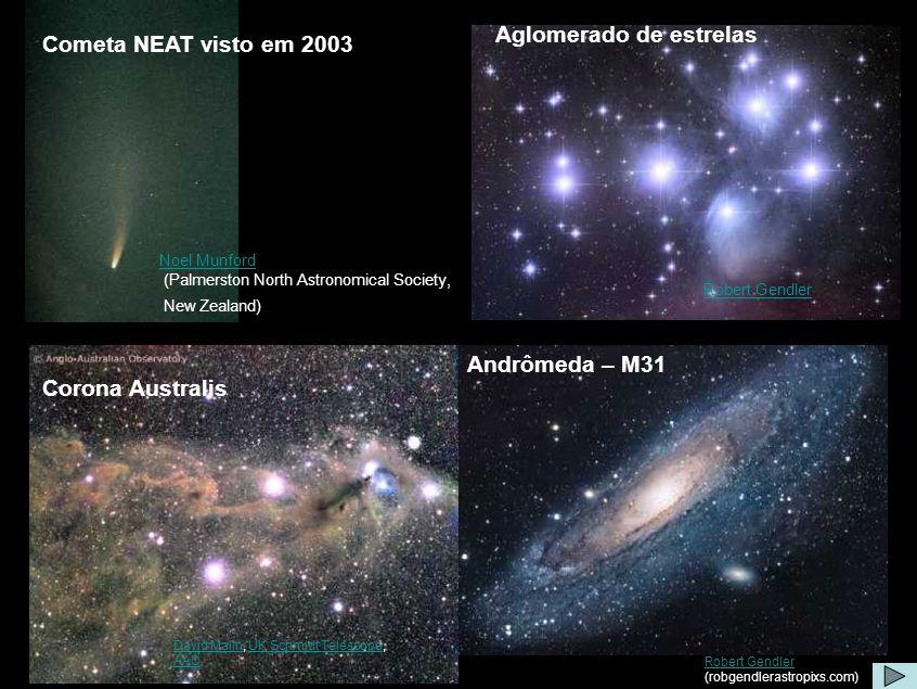 Algumas imagens Aglomerado de estrelas Cometa NEAT visto em 2003