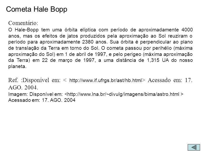 Cometa Hale Bopp Comentário: