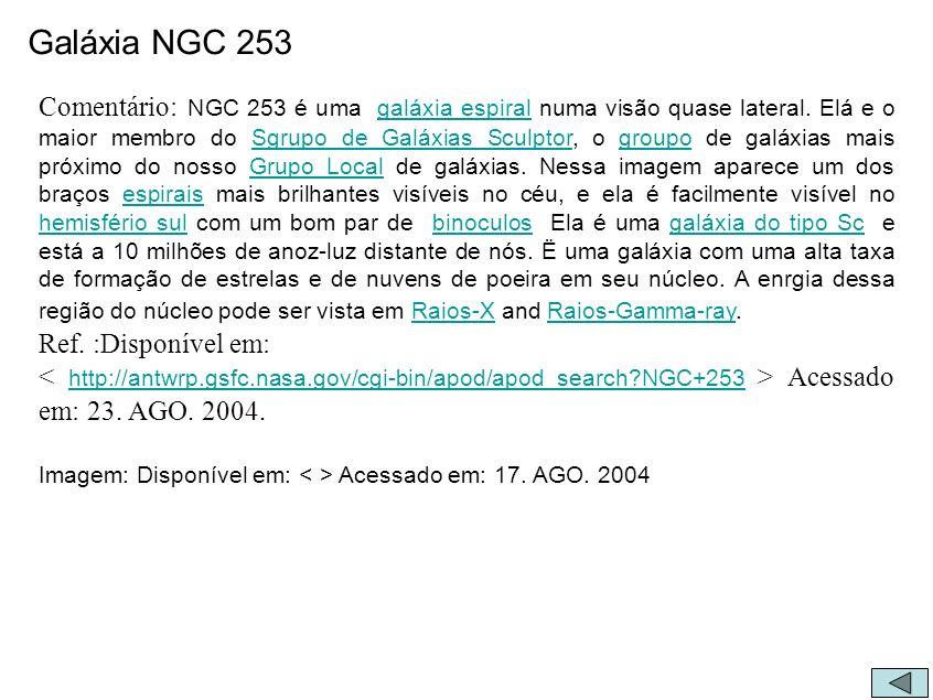 Galáxia NGC 253