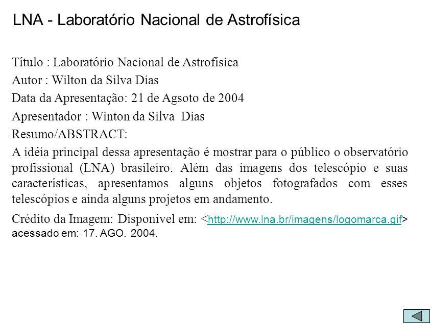 LNA - Laboratório Nacional de Astrofísica