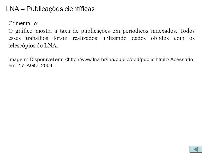 LNA – Publicações científicas