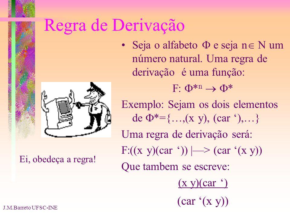 Regra de Derivação (car '(x y))