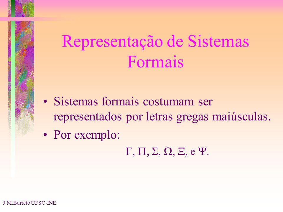 Representação de Sistemas Formais