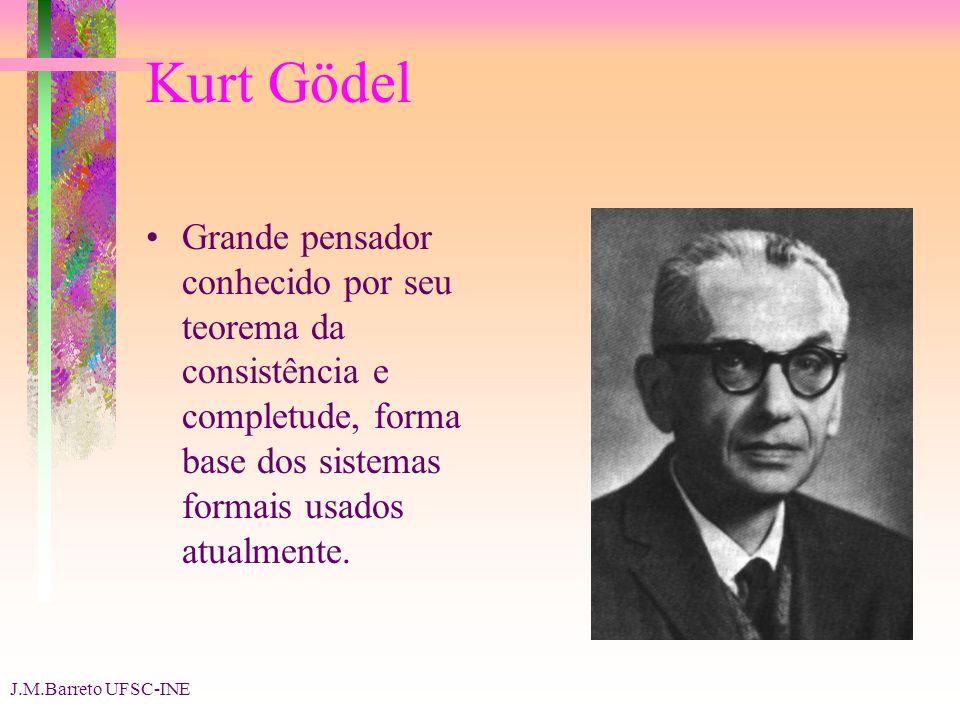 Kurt Gödel Grande pensador conhecido por seu teorema da consistência e completude, forma base dos sistemas formais usados atualmente.