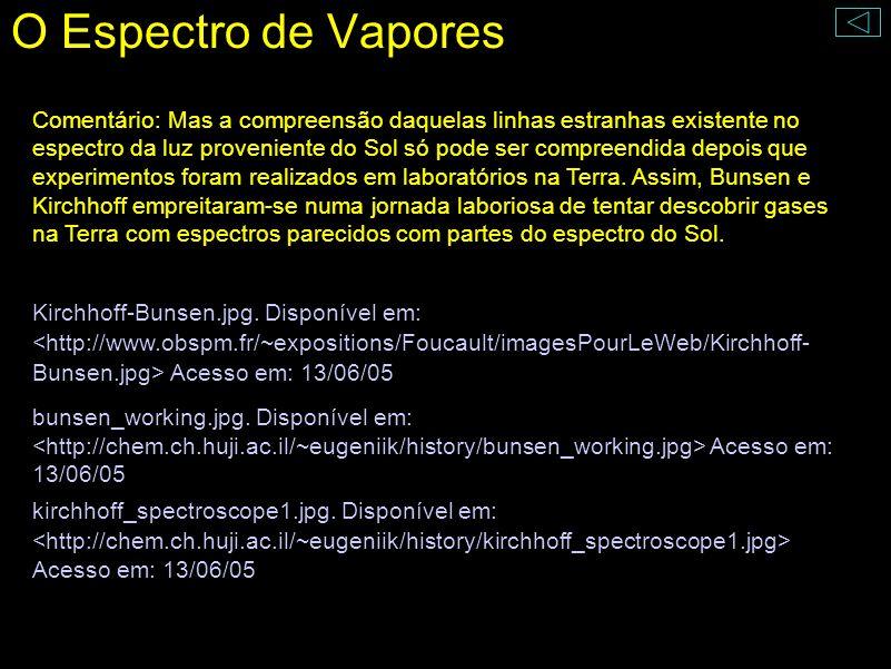 O Espectro de Vapores