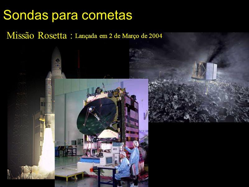 Sondas para cometas Missão Rosetta : Lançada em 2 de Março de 2004