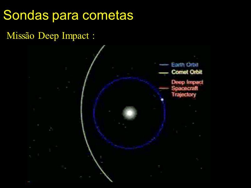 Sondas para cometas Missão Deep Impact :