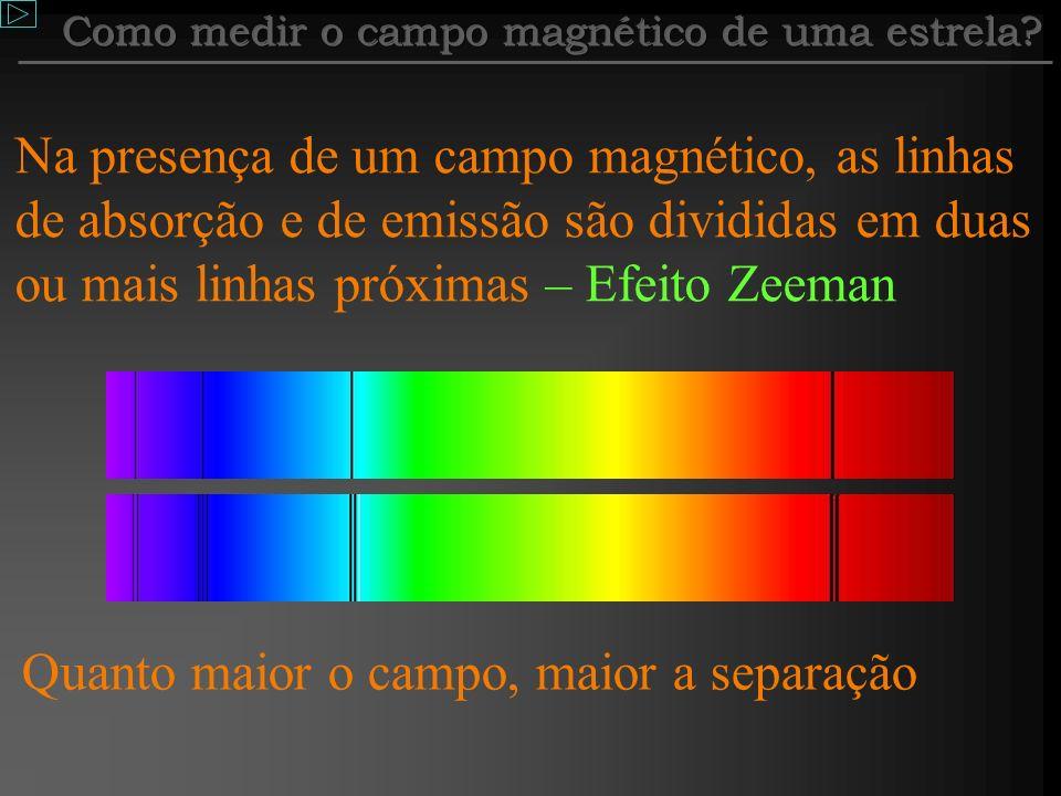 Como medir o campo magnético de uma estrela